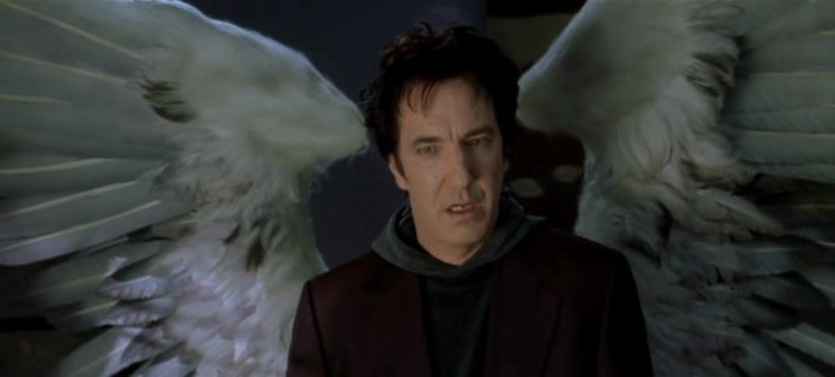 """The wonderful Alan Rickman as Metatron in """"Dogma"""""""