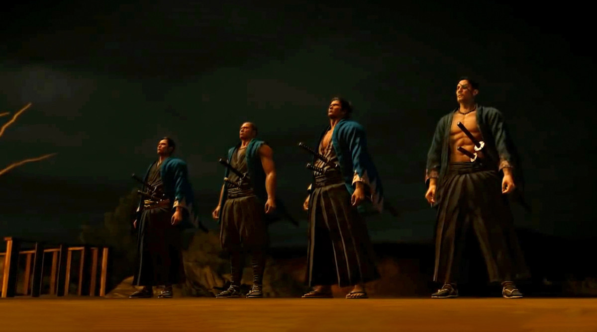 The legendary swordsmen of the Shinsengumi are the protagonists of Yakuza Ishin.