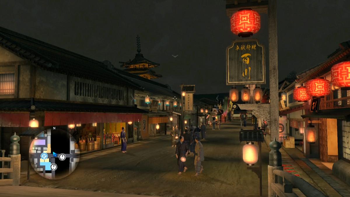 View of Shijō Street from Shijō Bridge. Shijō is still the main shopping street in Kyoto today.