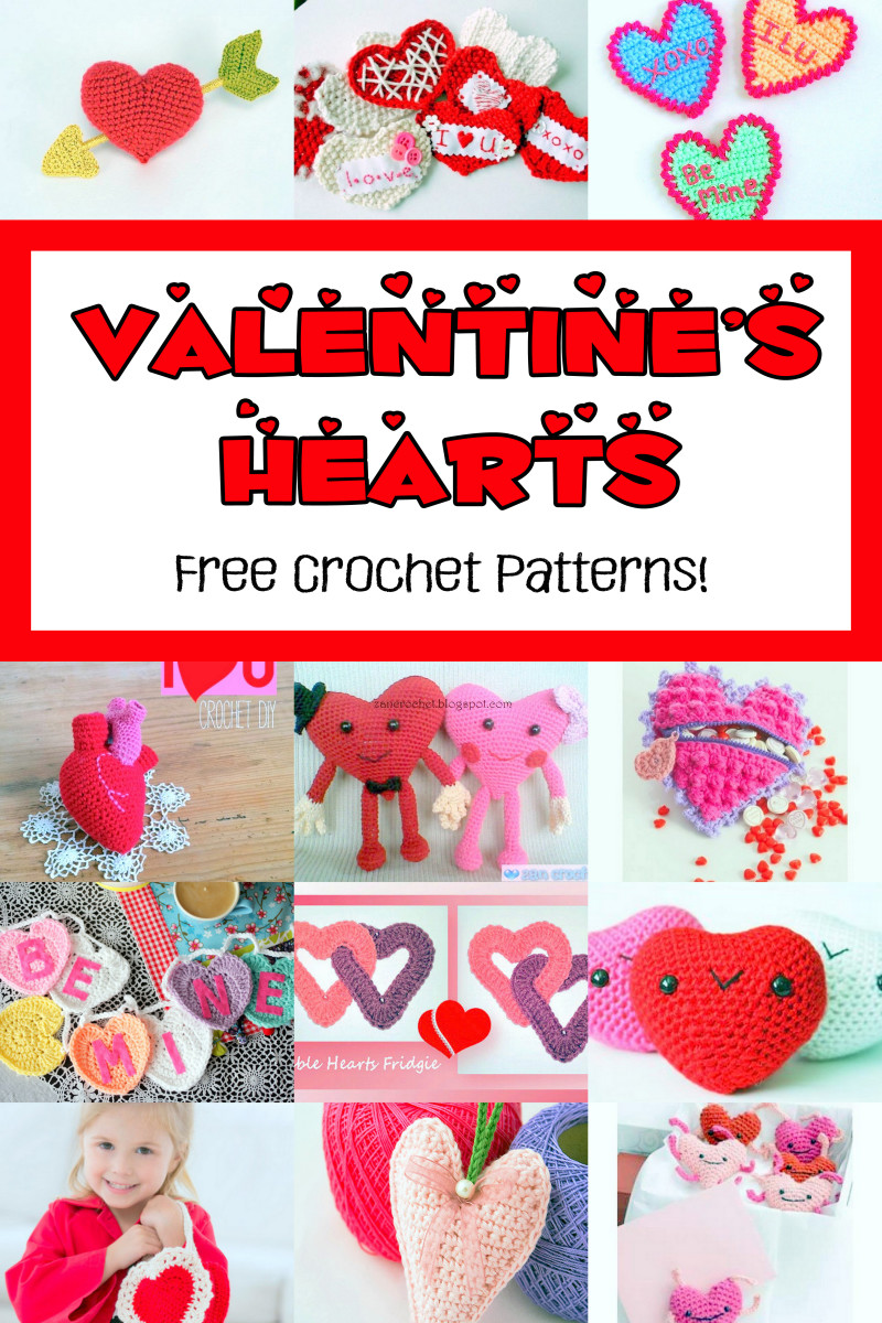 16 Free Valentine's Day Hearts Crochet Patterns