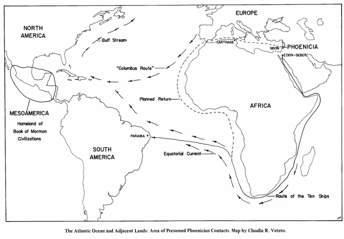 If we examine the map of the Gulf Stream, we can easily see how any maritime trading nation would use this current to arrive in the New World and traverse the North American coastline.
