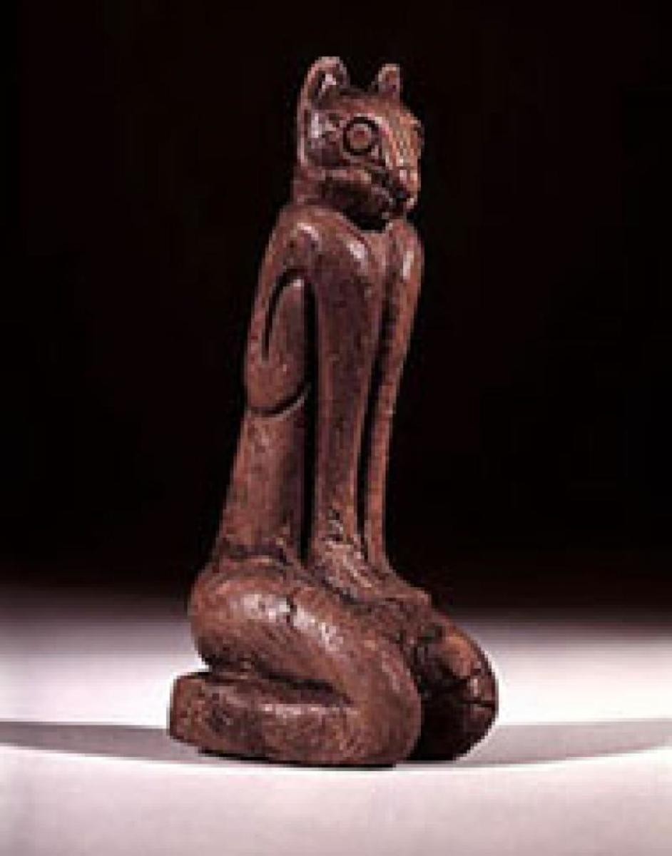 This wooden figurine found on an uninhabited island near Key Marco, clearly is the Egyptian Goddess Bast.