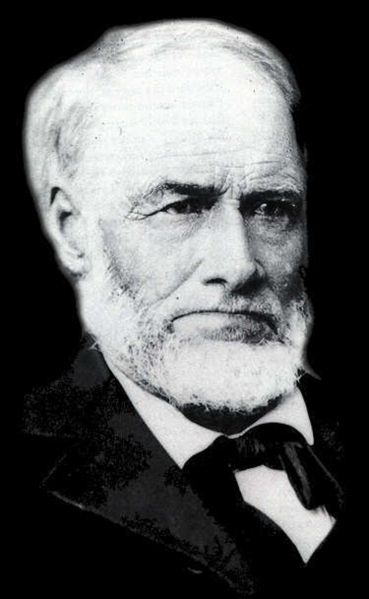James W. Marshall - American carpenter and sawmill operator, who reported the finding of gold at Coloma on the American River in California on January 24, 1848