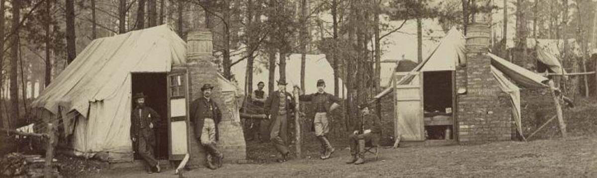 Camp at Brandy Station in Virginia