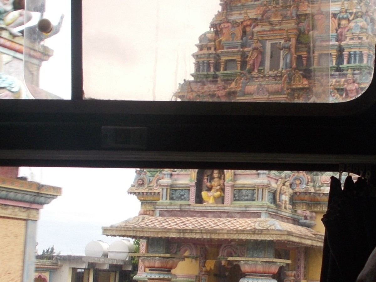 Indian Temple from the Bus