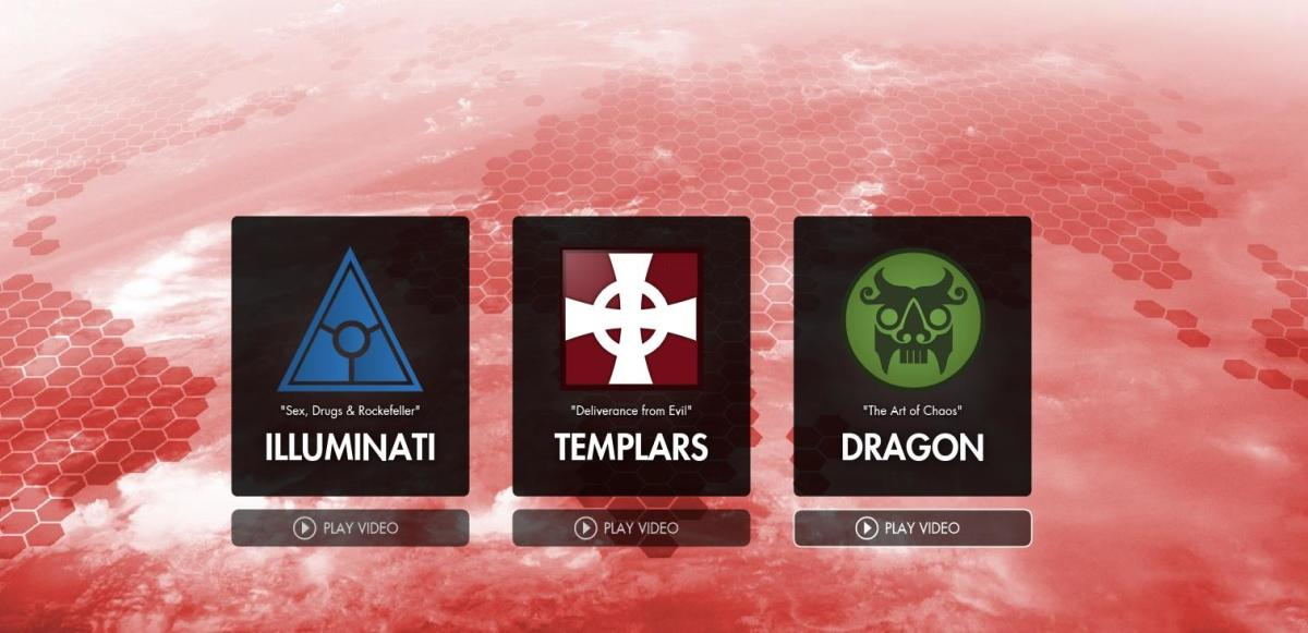 """The three playable factions in """"Secret World: Legends."""""""