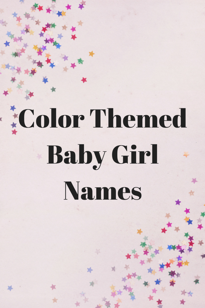 Color Themed Baby Girl Names