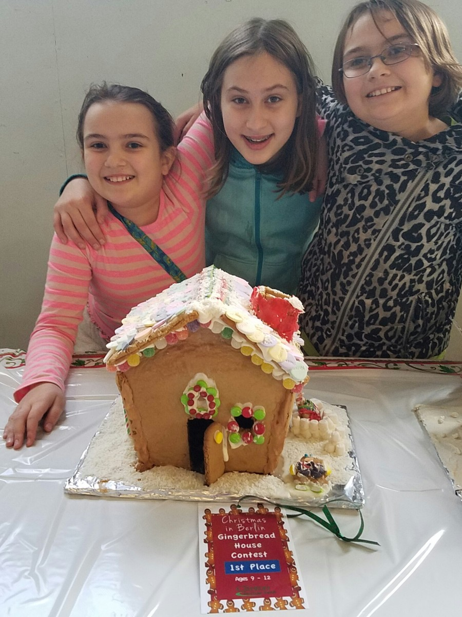 My daughter and her friends shared the first place award at our town's gingerbread house contest last December.