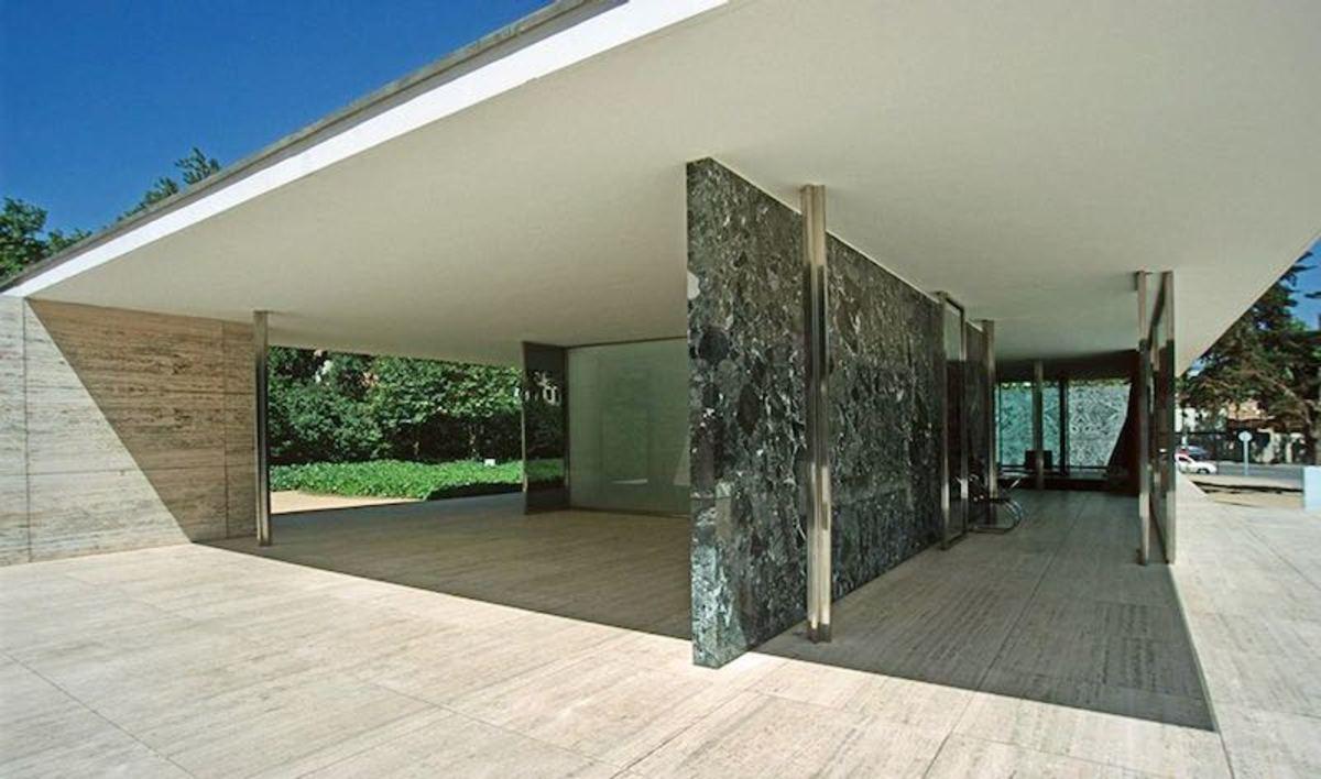 Mies Van de Rohe Pavilion in Barcelona