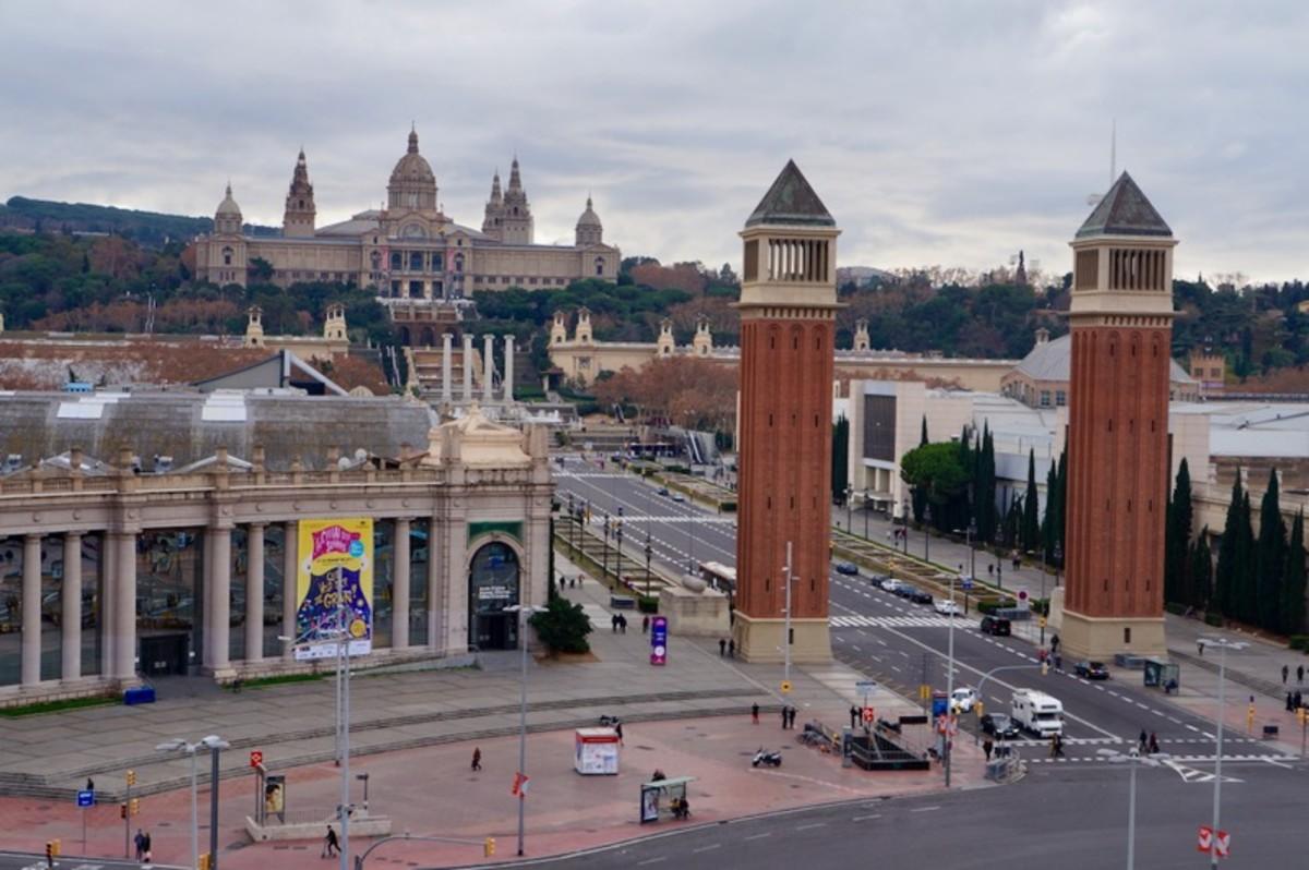 Montjuic View from Plaza de Espanya