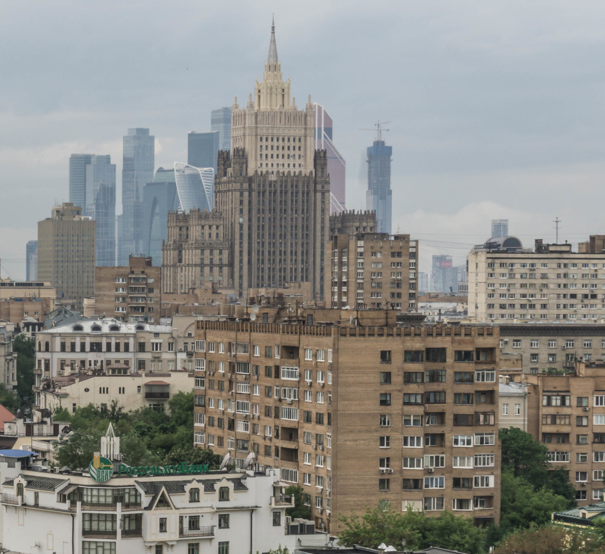The Moscow Skyline including the tallest Skyscrapers in Europe at the International Business Centre.