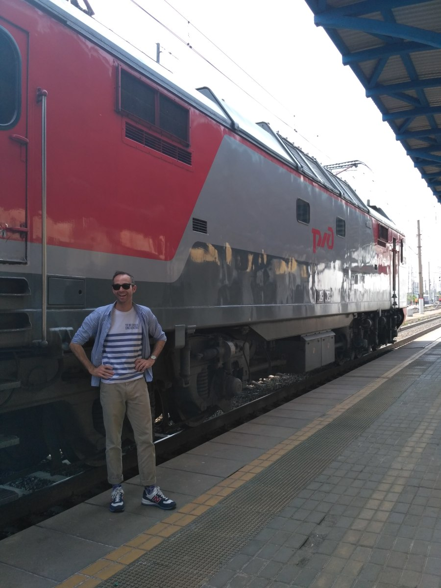 Leaving Irkutsk on the Trans Siberian Railway