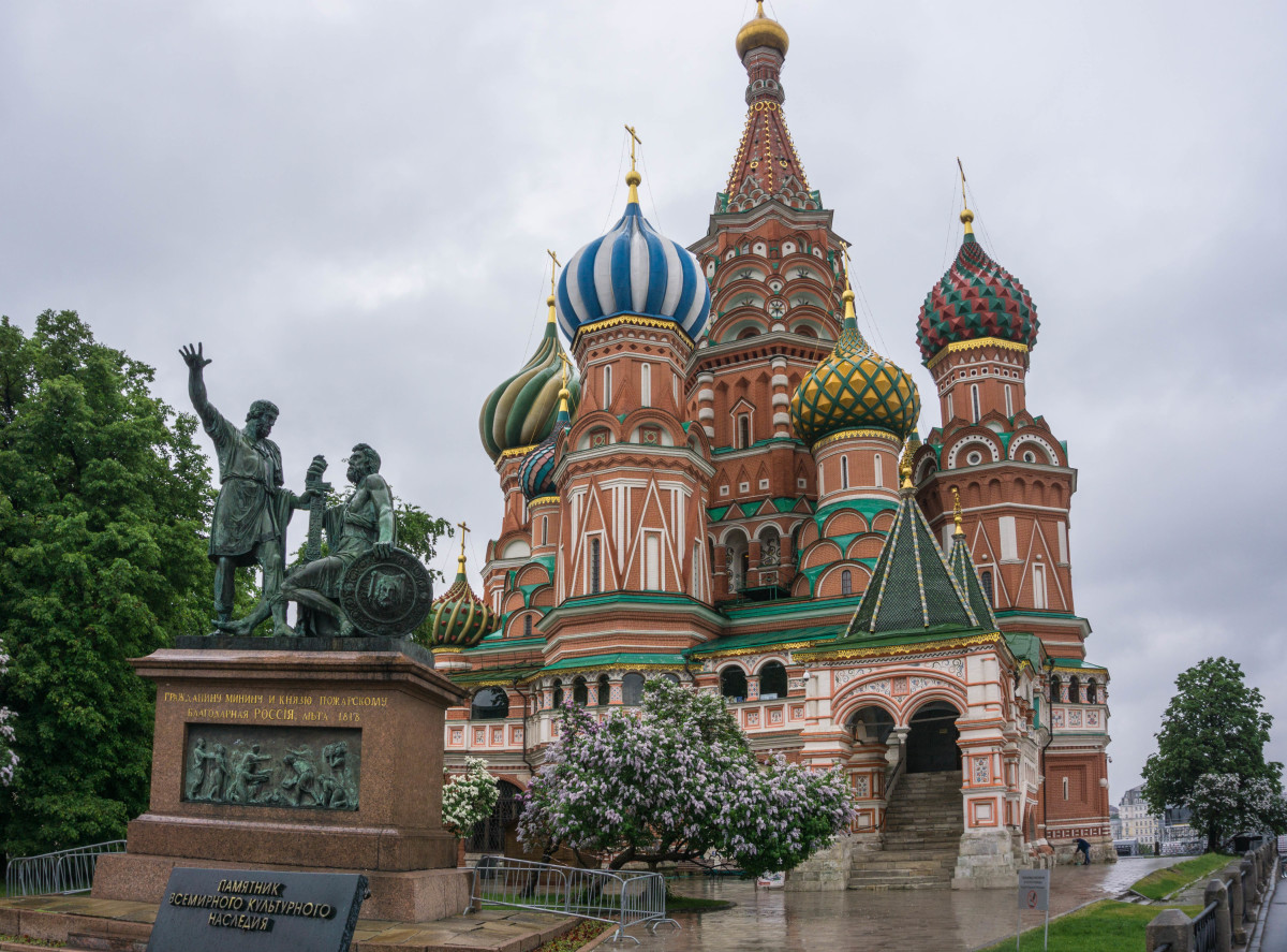 St Basil's Cathedral at Red Square in Moscow