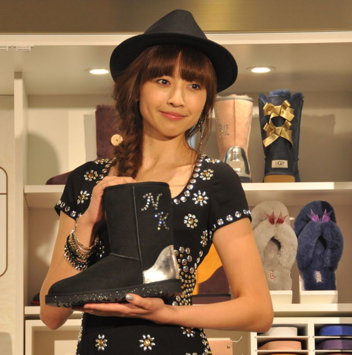 Nana Katase is seen here at the event for the UGG Boots in Shibuya.