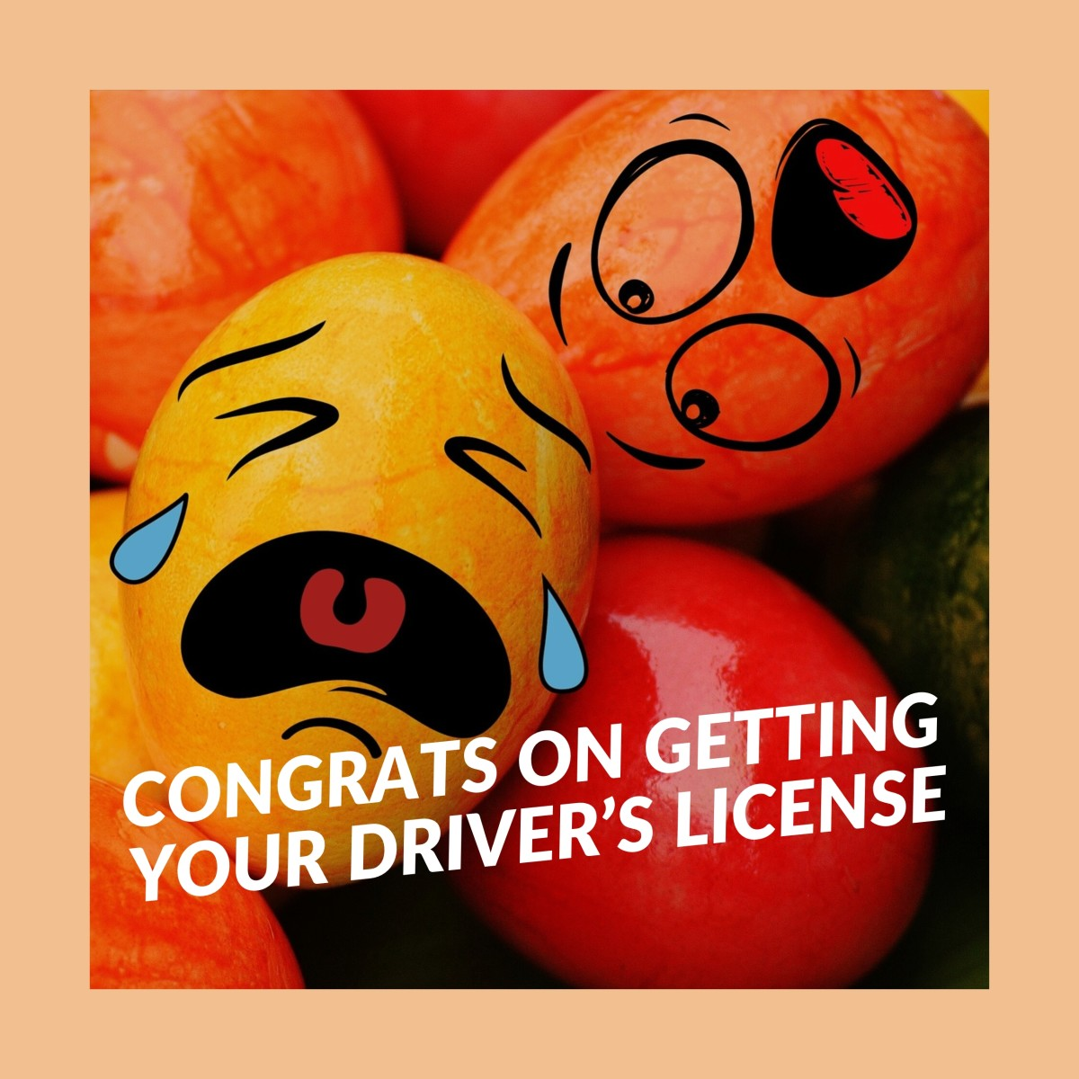 Congrats on getting your driver's license