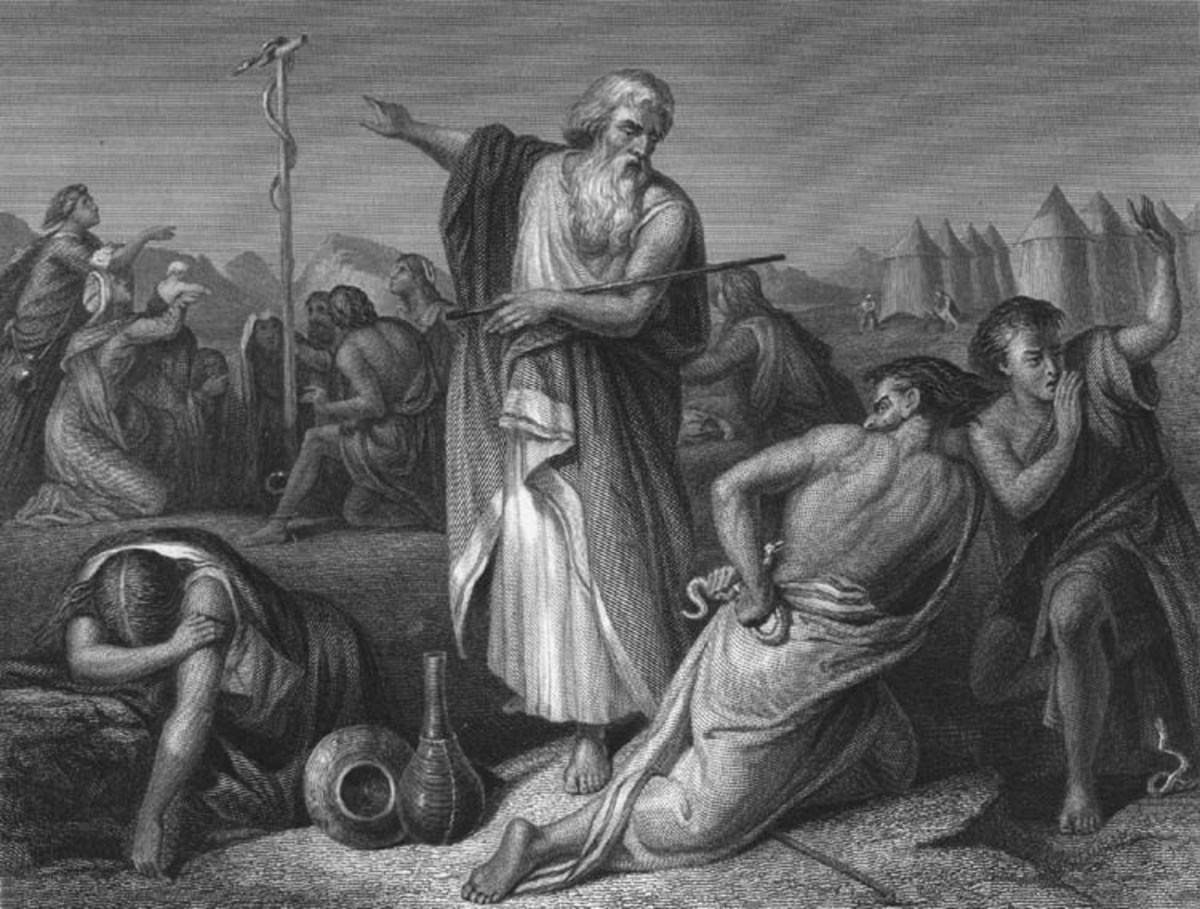 Moses and the Bronze Snake on a Pole