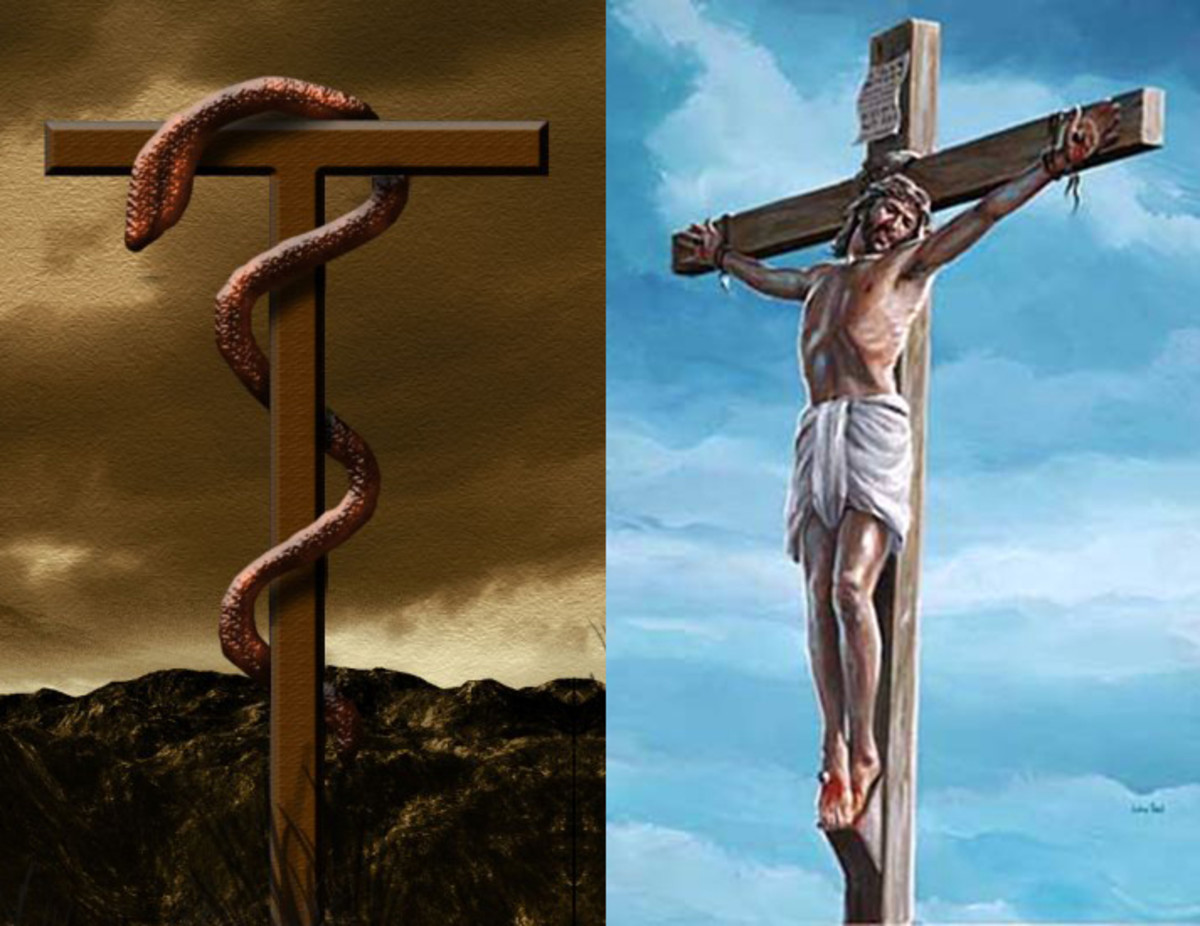 moses-and-the-bronze-snake-on-a-pole