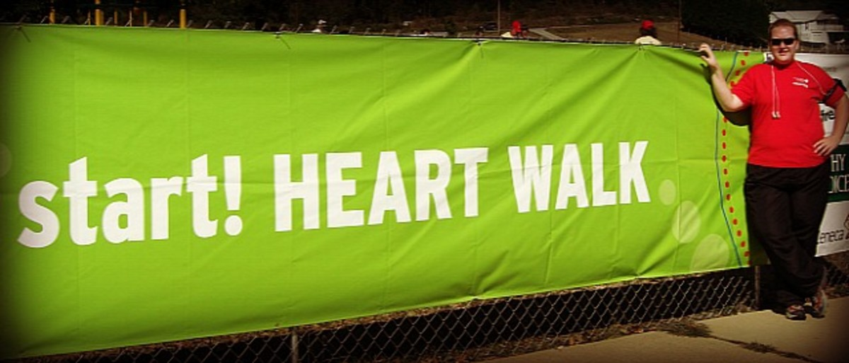 I participated in the walk in honor of my family members with heart disease.