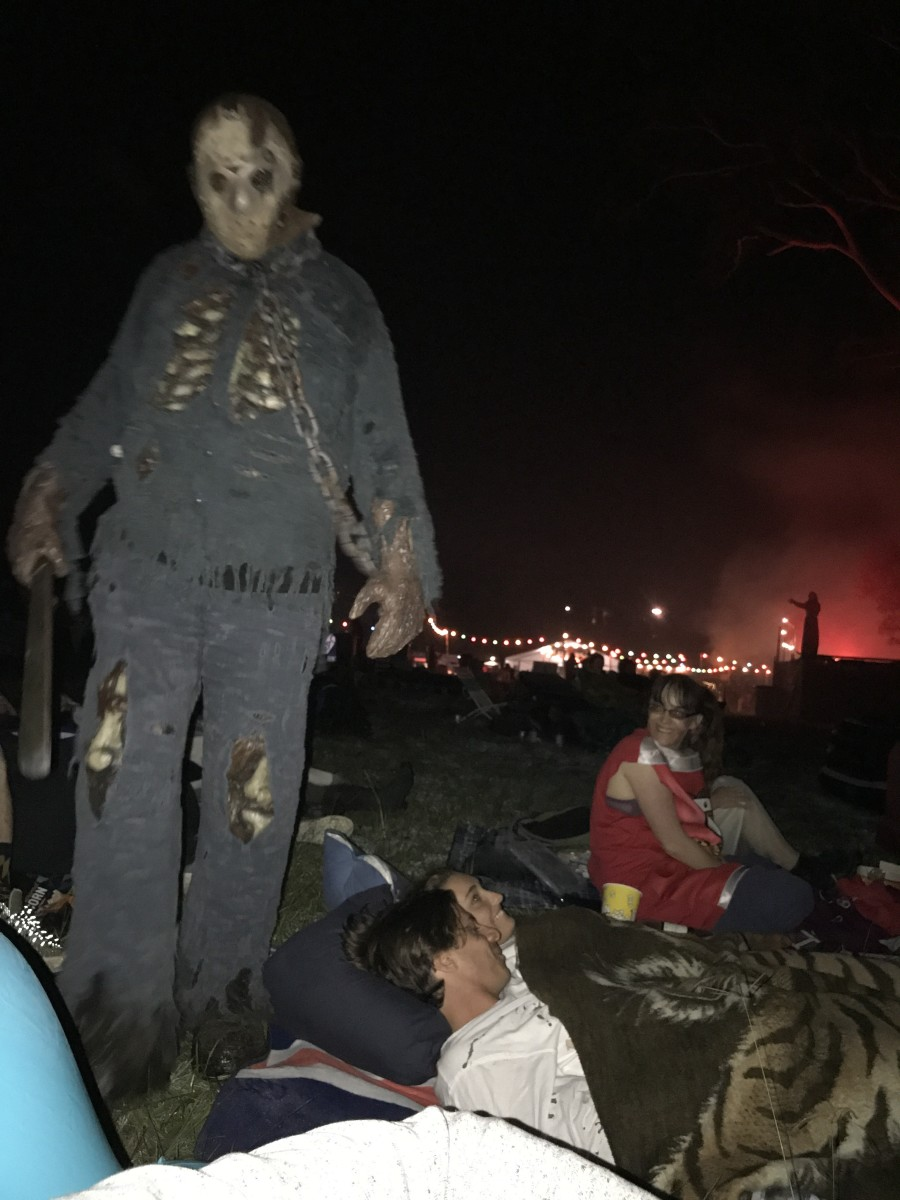 Grab a blow up couch and settle in for a big screen movie at Horror Movie Camp Out while immersive actors sneak around you looking for the next jump scare.