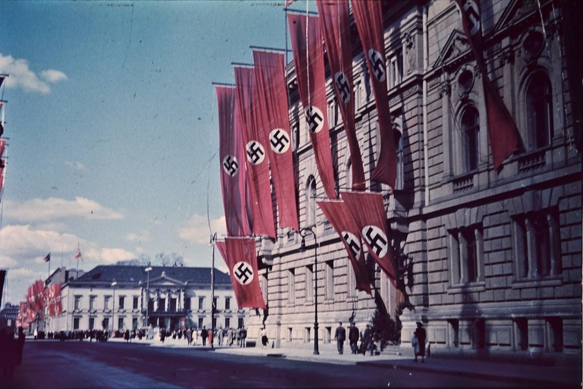 Swastikas on flags