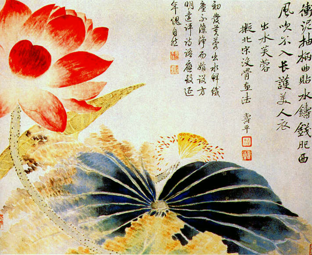 Lotus Flower Breaking the Surface, Yun Shouping, Qing Dynasty, 17th century, China, Palace Museum, Beijing.