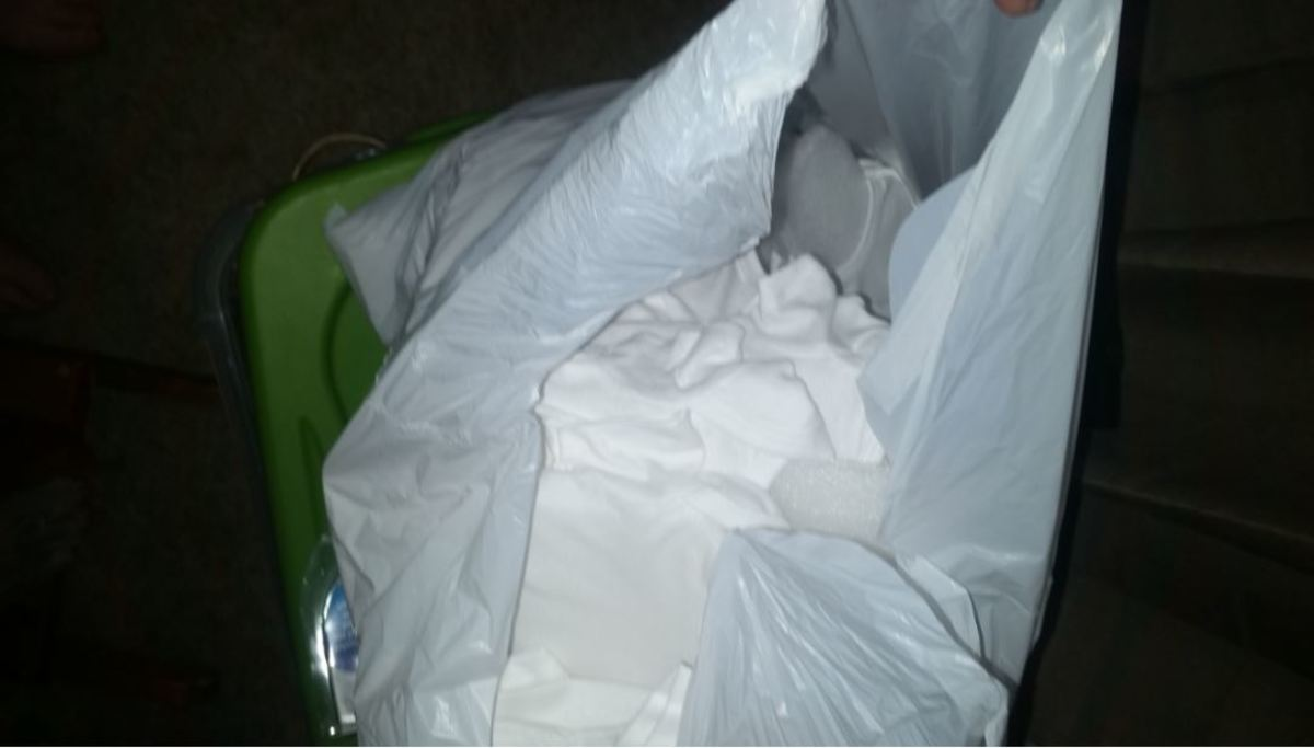 Bag of Shirts ready to Puffy Paint
