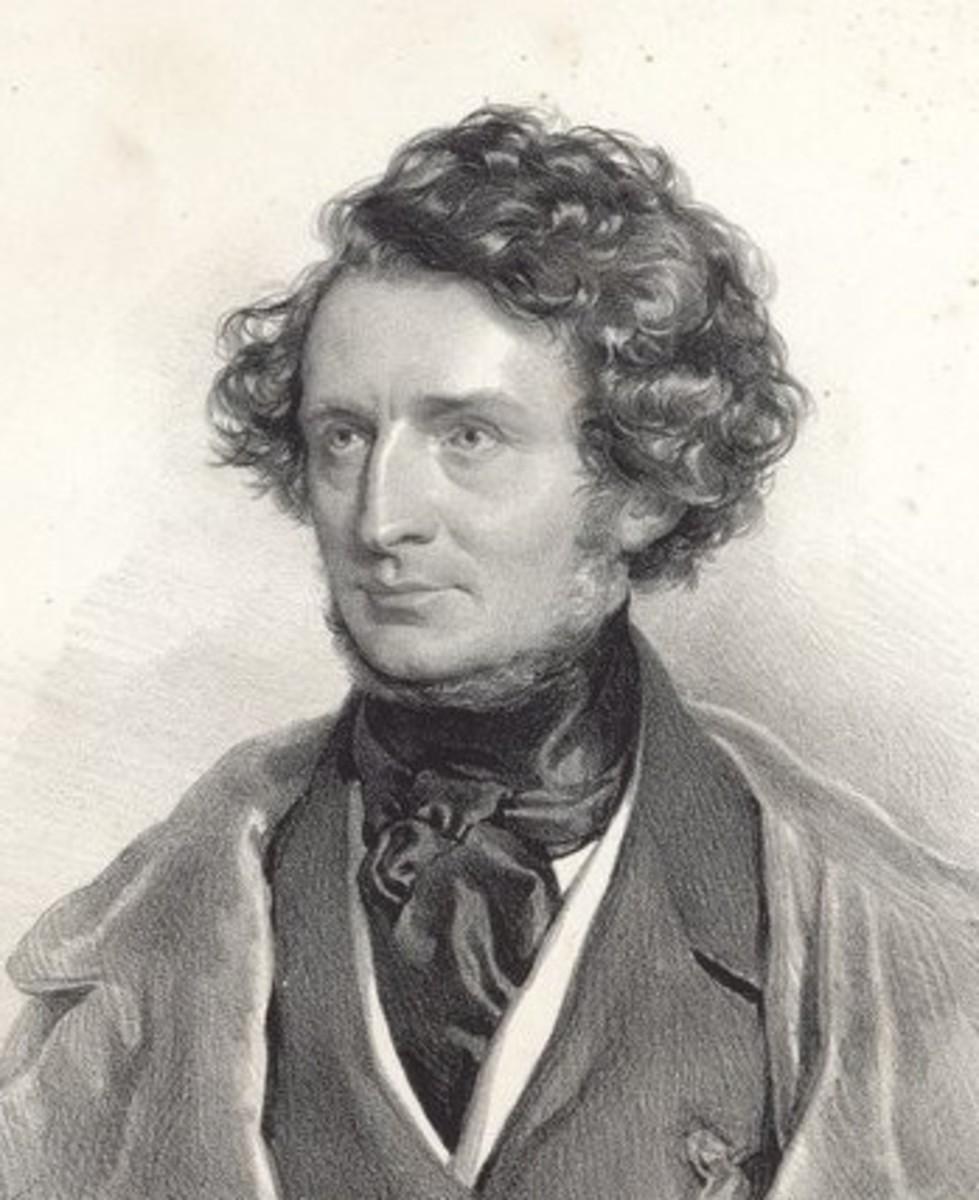 Portrait of Berlioz by Joseph Kriehuber in, 1845.