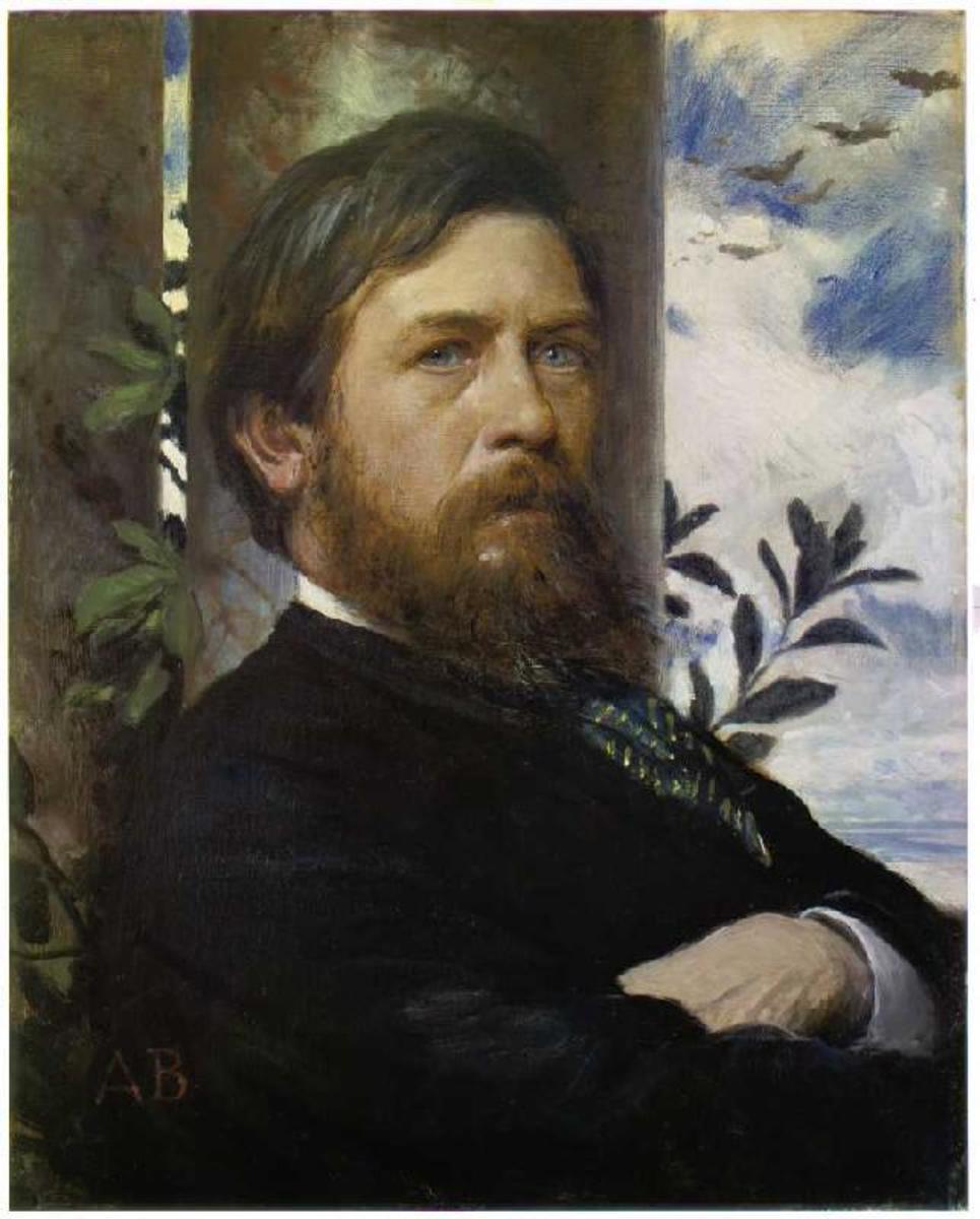 Arnold Böcklin, self portrait, 1873.
