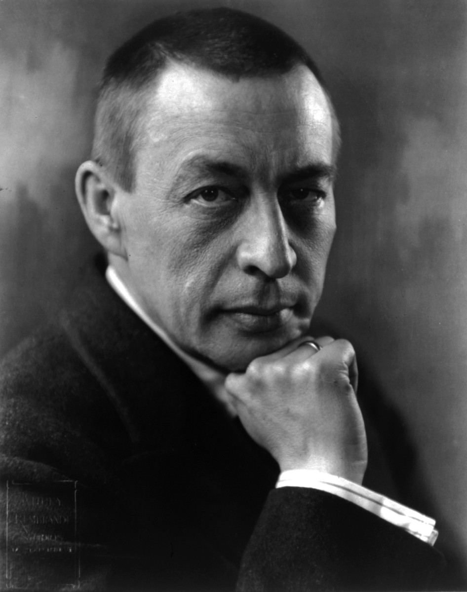 Photograph of Rachmaninov in 1921.