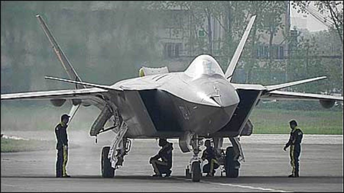 The J-20 being prepared.