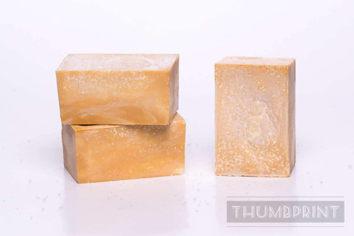 Grapefruit Ginger Cold Process Salt Bar Soap Recipe