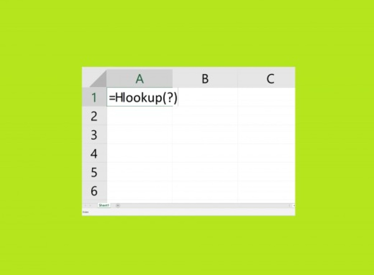 How to Use the HLOOKUP Function in MS Excel 2016