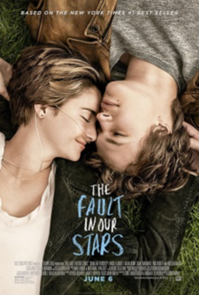 Shailene Woodley stars as the character Hazel and Ansel Elgort stars as the character Gus in The Fault in Our Stars the movie