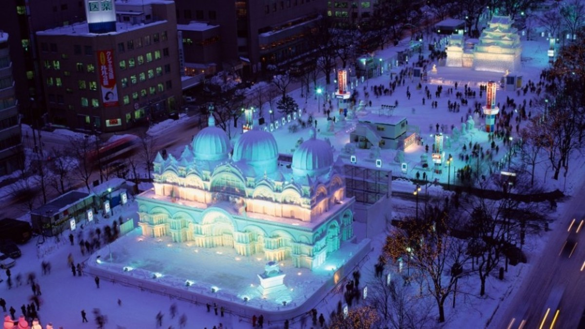Sapporo Snow Festival in Hokkaido, Japan