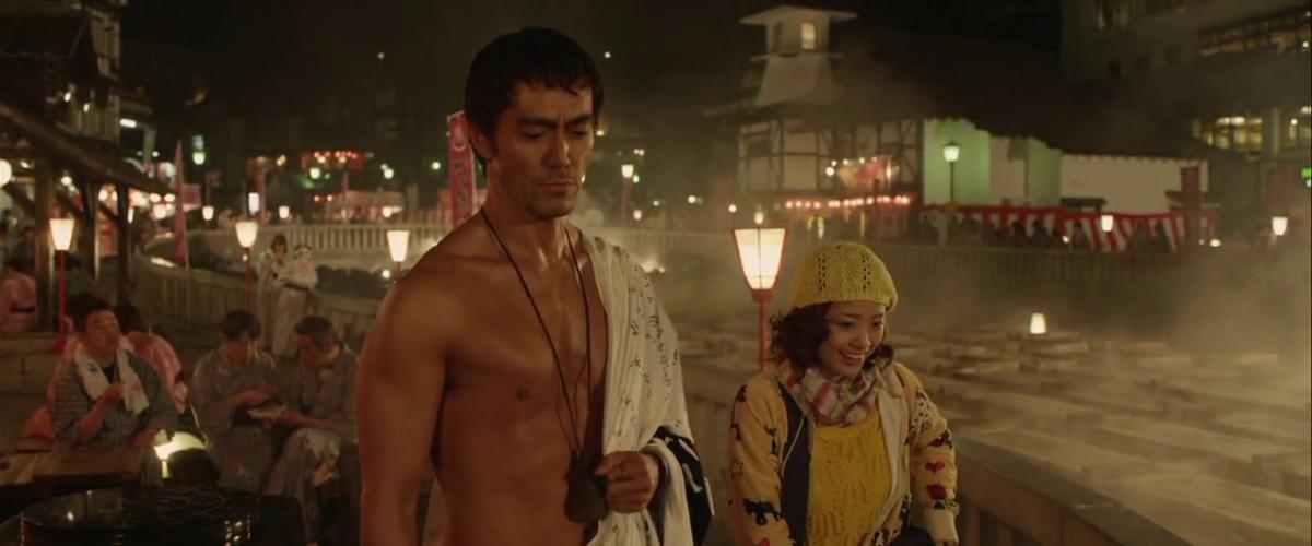 Abe Hiroshi and Ueto Aya in Thermae Romae II