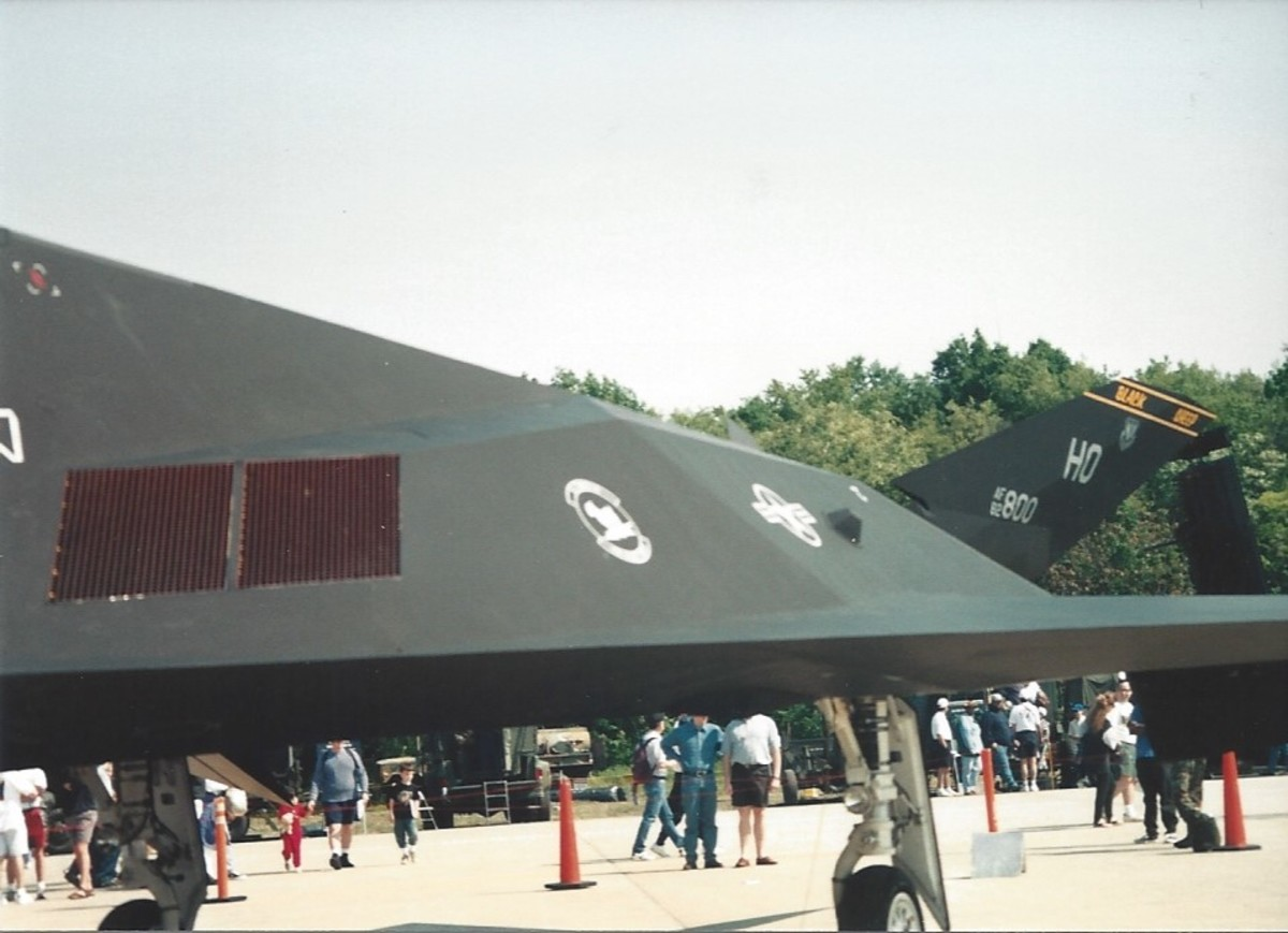 F-117A at Andrews AFB, MD, May 1997.
