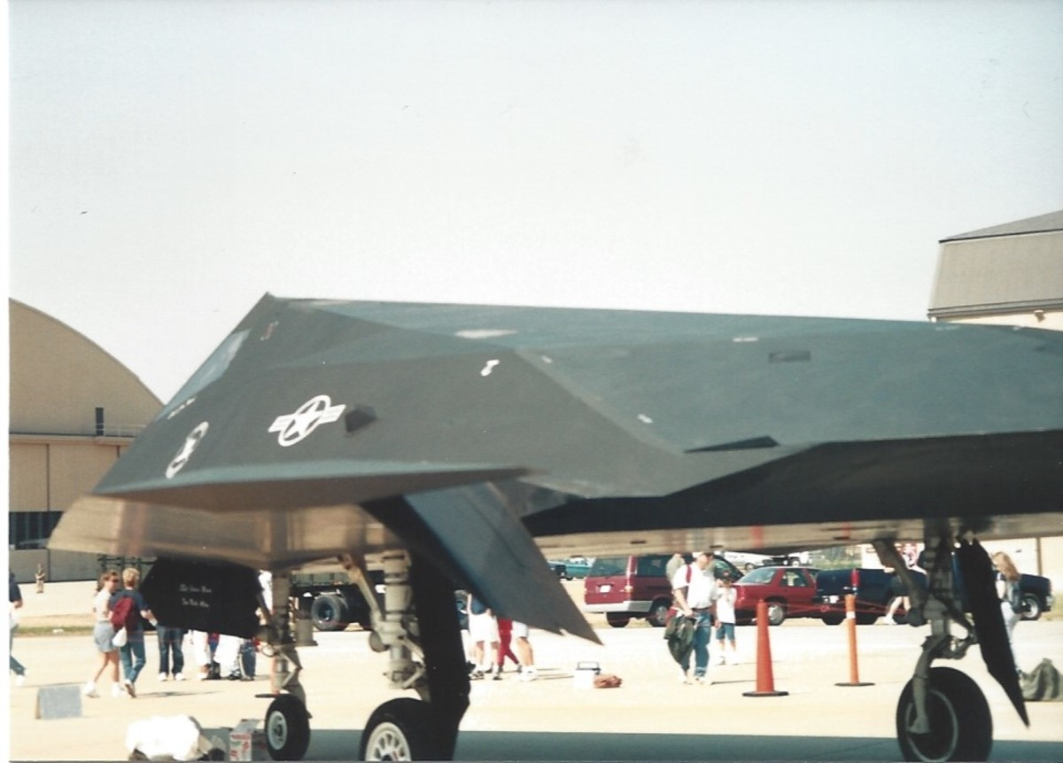 F-117A at Andrews AFB, May 1997.