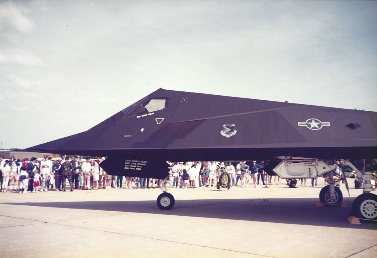 F-117 Andrews AFB, May 1990.