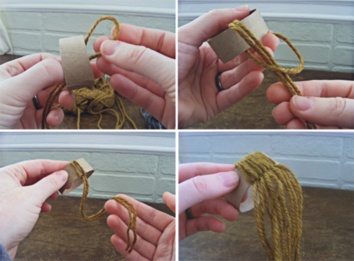 Making a pompom winter hat ornament is so easy