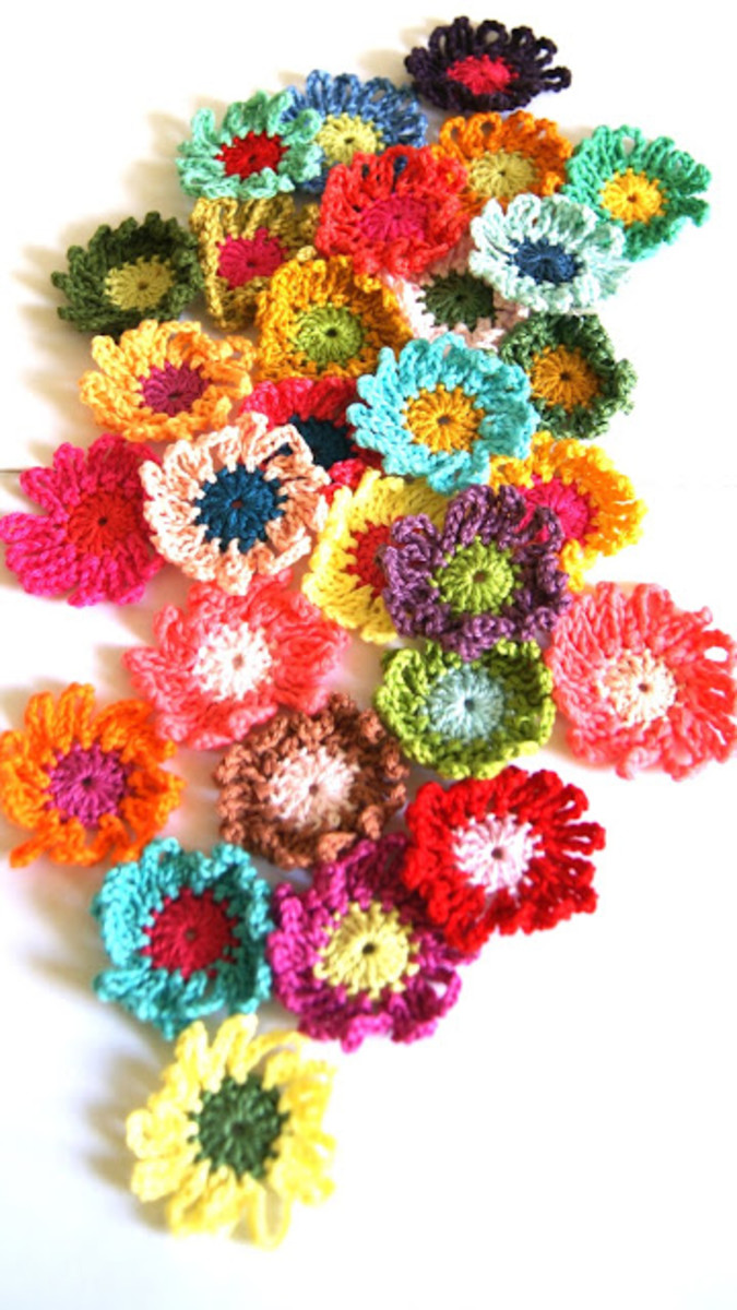Make these crochet flowers to top a gift, decorate a card and more