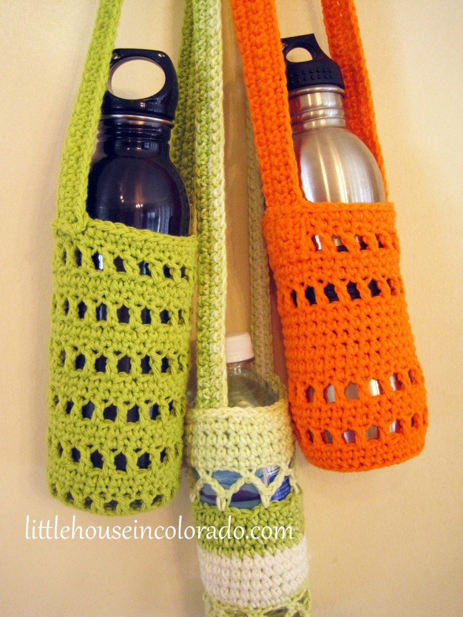 Easy to create water bottle cover can be made from your scraps