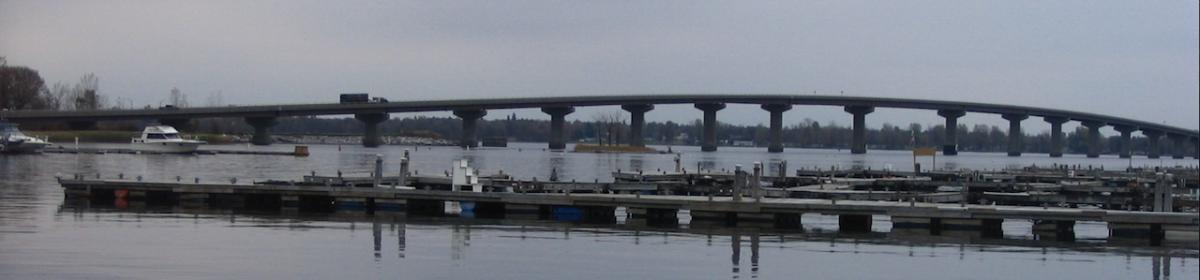 Rouses Point Bridge and Barcomb's Marina