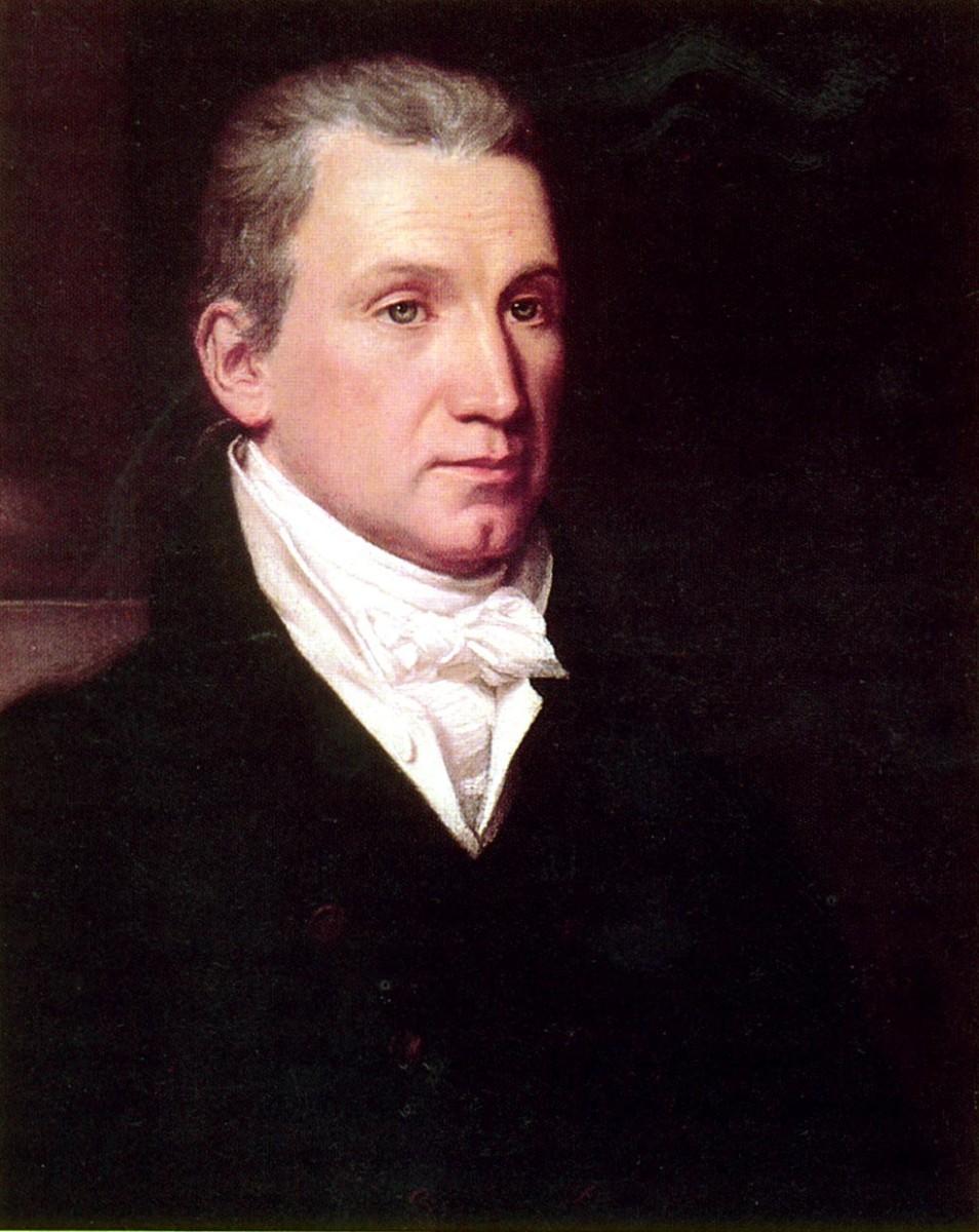 US President James Monroe portrait by William James Hubbard, ca. 1832.