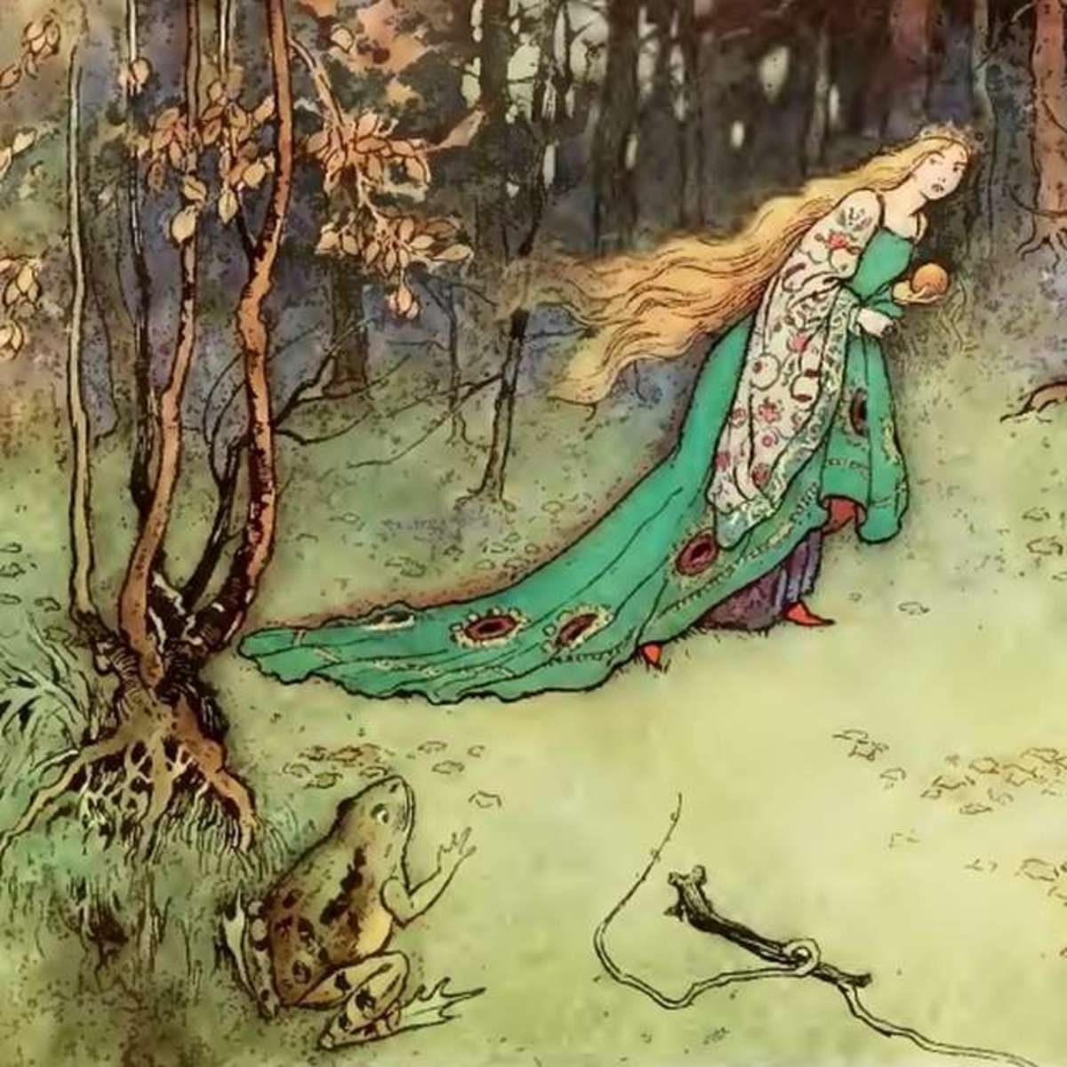 Warwick Goble (Public Domain illustration from Frog Prince)