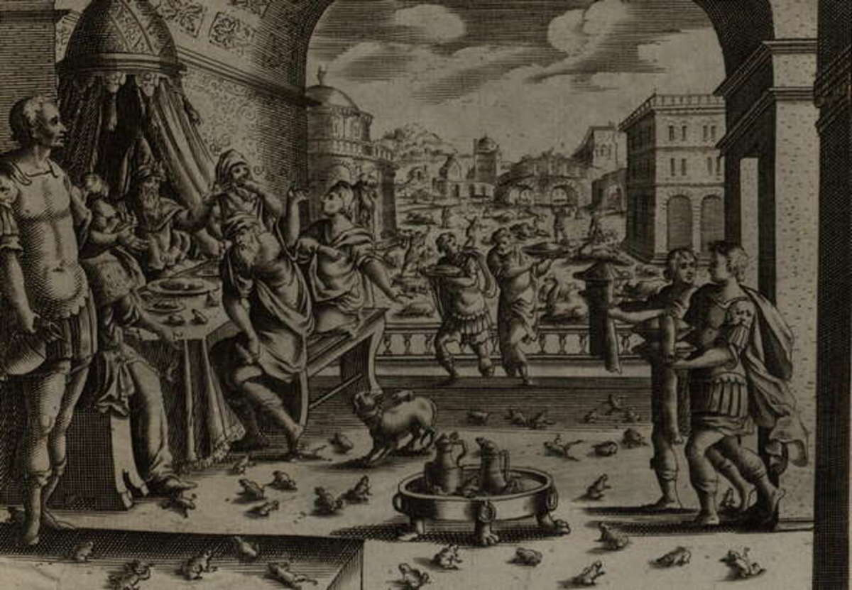 The Plague of Frogs by Gerard Jolain (1670)
