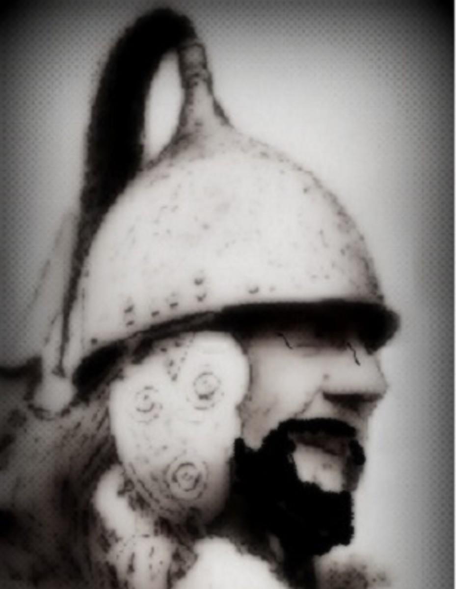 An Irish Warrior Awaiting Battle.