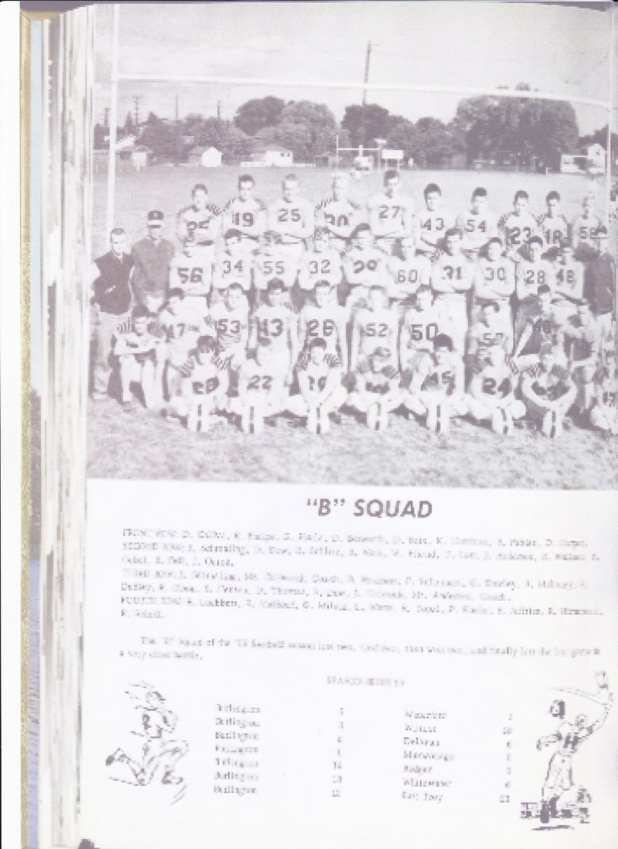 The author # 43 as a member of the Sophomore B squad