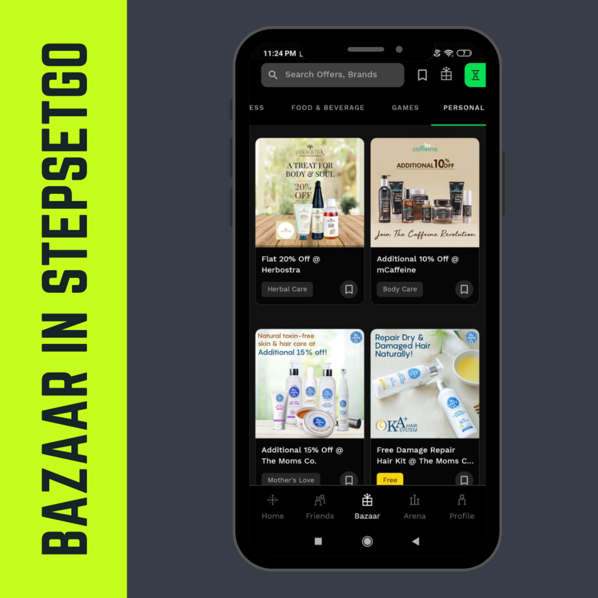 Bazaar in StepSetGo App