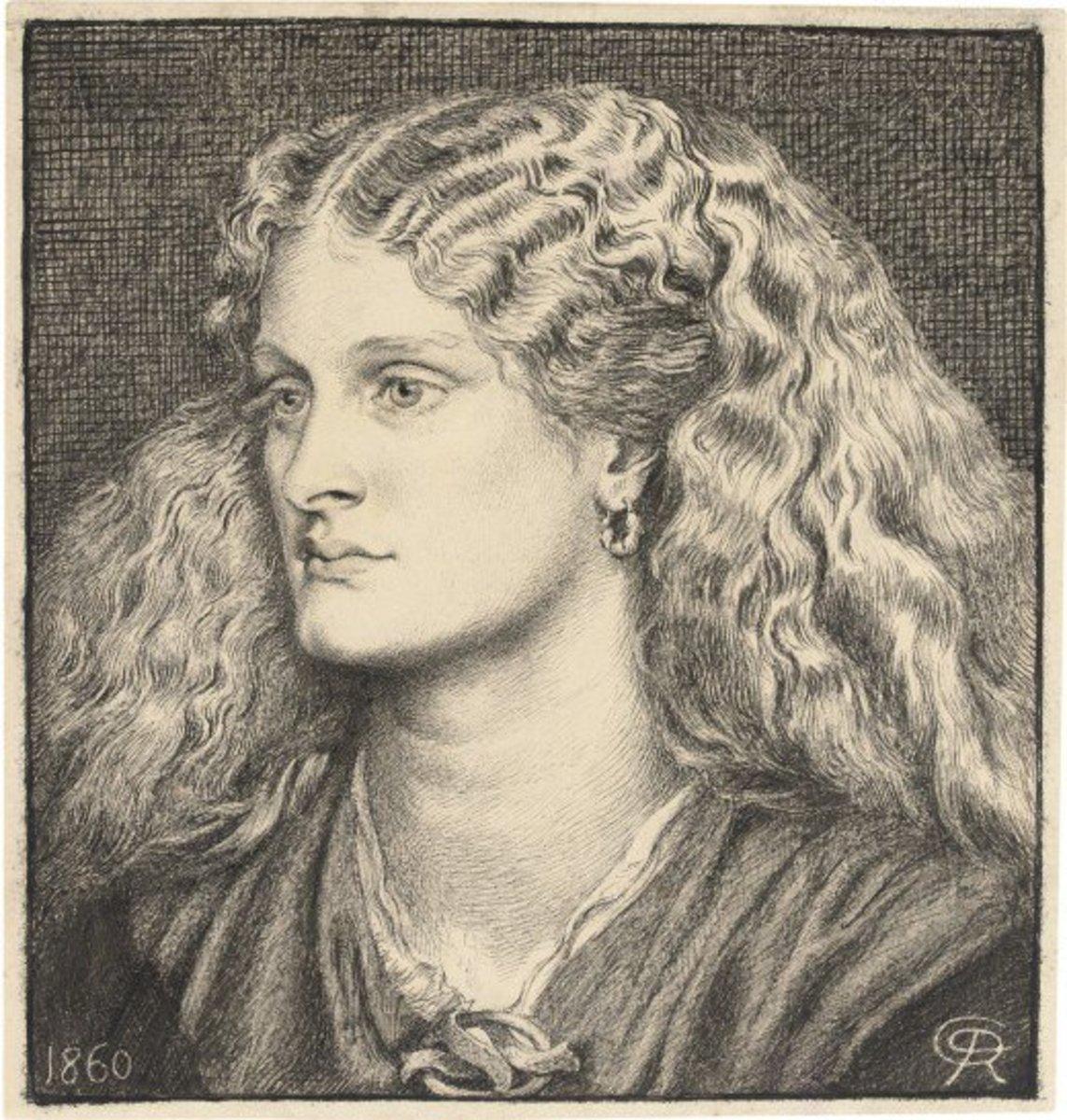 Portrait of Annie Miller circa 1860