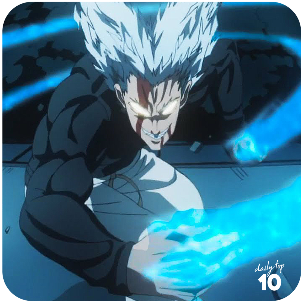 Garou unleashing his martial art technique